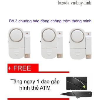 Combo 3 chuông từ báo động chống trộm thông minh + Free dao gấp hình thẻ ẢTM - 8199610 , HU612HLAA37LVTVNAMZ-5612138 , 224_HU612HLAA37LVTVNAMZ-5612138 , 75000 , Combo-3-chuong-tu-bao-dong-chong-trom-thong-minh-Free-dao-gap-hinh-the-ATM-224_HU612HLAA37LVTVNAMZ-5612138 , lazada.vn , Combo 3 chuông từ báo động chống trộm thông min