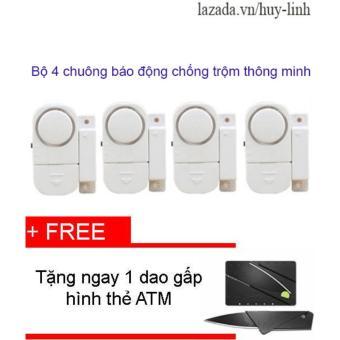 Combo 4 chuông từ báo động chống trộm thông minh + Free dao gấp hình thẻ ATM - 8199611 , HU612HLAA37LVYVNAMZ-5612143 , 224_HU612HLAA37LVYVNAMZ-5612143 , 105000 , Combo-4-chuong-tu-bao-dong-chong-trom-thong-minh-Free-dao-gap-hinh-the-ATM-224_HU612HLAA37LVYVNAMZ-5612143 , lazada.vn , Combo 4 chuông từ báo động chống trộm thông mi