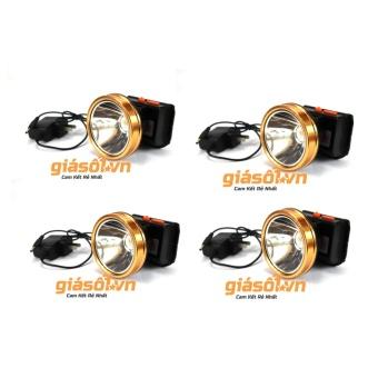 Combo 4 Đèn pin đeo trán,đội đầu bóng LED siêu sáng chống nước