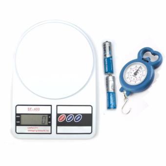 Combo cân nhà bếp điện tử 10kg và cân mini cầm tay 10kg
