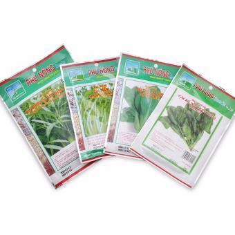 Combo hạt giống 4 loại rau lá giàu vitamin: Rau muống-cải thìa-bóxôi-cải mầm