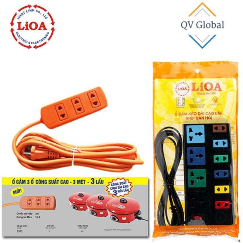 Bảng giá Mua Combo ổ cắm LIOA 10 ổ cắm 4D6S32 - Ổ cắm LIOA chịu tải 3 nồi lẩu S3TC