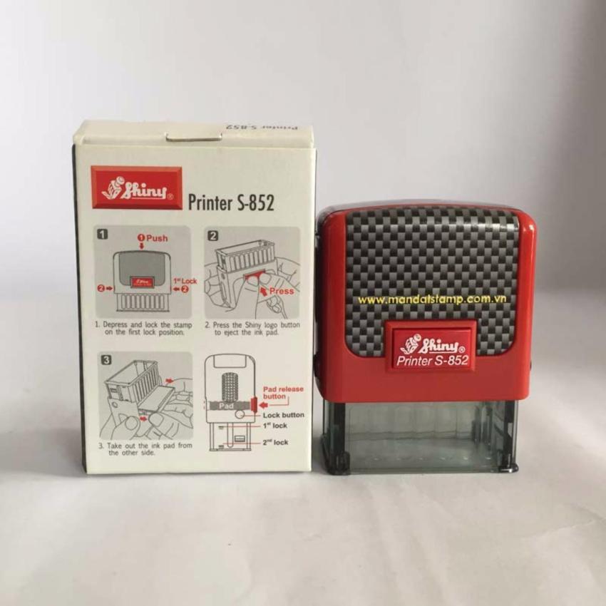 """Con dấu liên mực """"ĐÃ THU TIỀN"""" Printer S-852 (Màu đỏ)"""