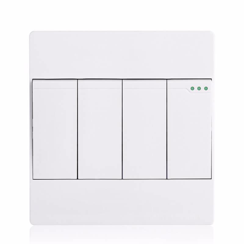 Bảng giá Công tắc bốn 1 chiều mặt vuông cao cấp KLASS 86KB12-007 (màu trắng)