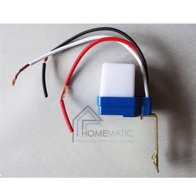 Công tắc cảm ứng ánh sáng 10A AS-10 (Xanh phối trắng)