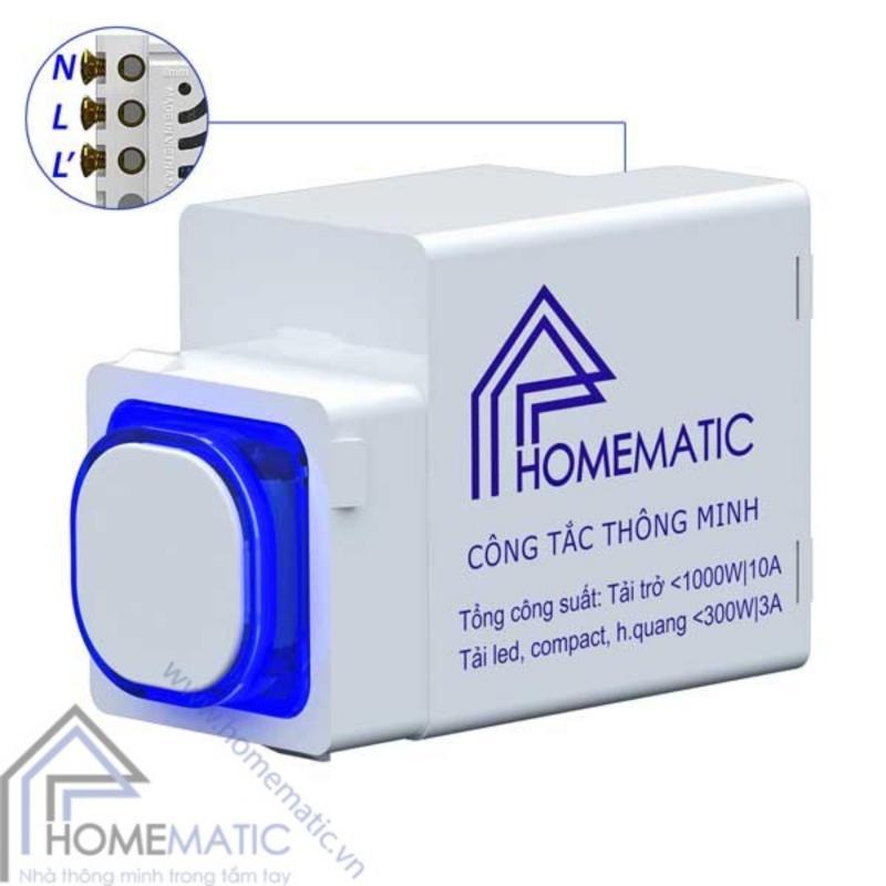 Bảng giá Mua Công tắc điều khiển từ xa IR+RF HOMEMATIC HMX-3C-TIRFV1 (Hạt tròn)