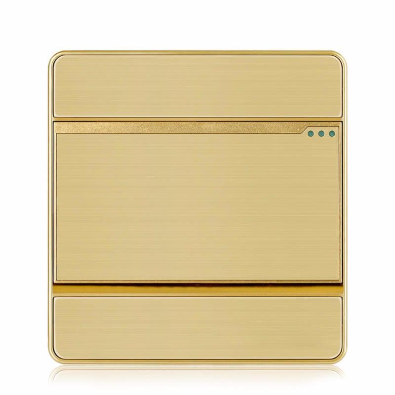 Bảng giá Công tắc đơn 1 chiều mặt vuông hạt lớn KLASS 86KB8-001 (màu đồng)