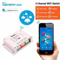 Công tắc wifi 4 kênh thông minh điều khiển từ xa qua wifi SONOFF 4CH