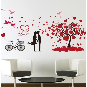 Couple tree wall stickers Waterproof decorative wall stickers70*150cm - intl