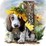 【companionship】(Giao hàng miễn phí cho cả ba chiếc đến Hà Nội)Hình Chó dễ thương 5D Tranh Gắn Đá TỰ LÀM Tranh Thêu Chữ Thập Thời Trang Trí Tường Nhà Quà Tặng-intl (Multicolor)
