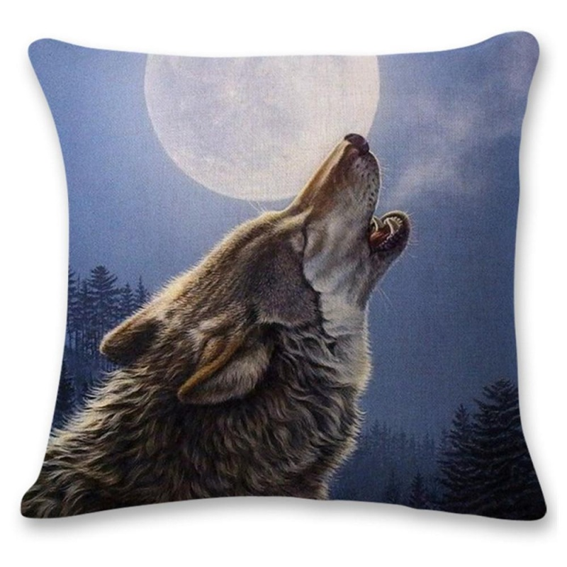 Bảng giá Mua Cute Wolf Tower Sofa Bed Home Decoration Festival Pillow Case Cushion Cover - intl