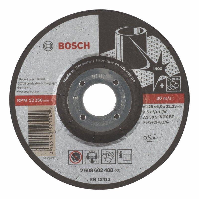 Đá mài Inox Bosch 2608602488 125 x 6 x 22.2mm (Đen)