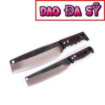 Dao Đa Sỹ: Bộ 02 dao thái (thái to+ thái nhỏ) rèn bằng thủ công (DT-PC)