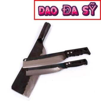 Dao Đa Sỹ: Bộ 03 dao (dao phay, dao bài thái, dao chuối bột) rèn bằng thủ công (DT-PC)
