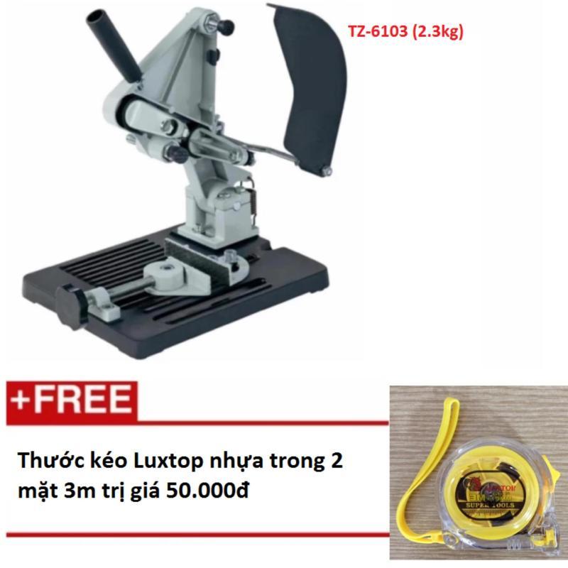 Đế máy cắt bàn sử dụng cho máy cắt cầm tay siêu tiện lợi, gọn , nhẹ TZ-6103 (2,3kg)  + Tặng thước kéo Luxtop nhựa trong 2 mặt 3m