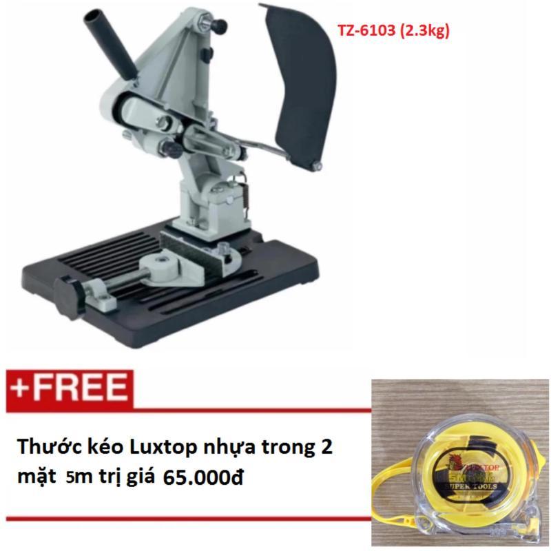 Đế máy cắt bàn sử dụng cho máy cắt cầm tay siêu tiện lợi, gọn , nhẹ TZ-6103 (2,3kg)  + Tặng thước kéo Luxtop nhựa trong 2 mặt 5m