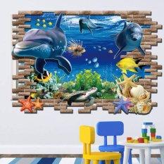 Decal dán tường Cá Heo 3D - HPMAY9706