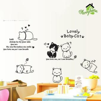 DECAL DÁN TƯỜNG LOVELY CAT - DC484