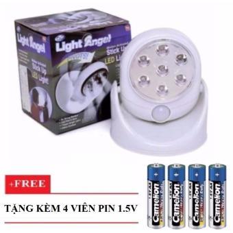 Đèn Cảm Ứng Hồng Ngoại Light Angel (Trắng) + 4 Viên Pin 1.5V
