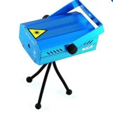 Đèn chiếu  trang trí Mini Laze cảm biến nhạc(Xanh dương nhạt)