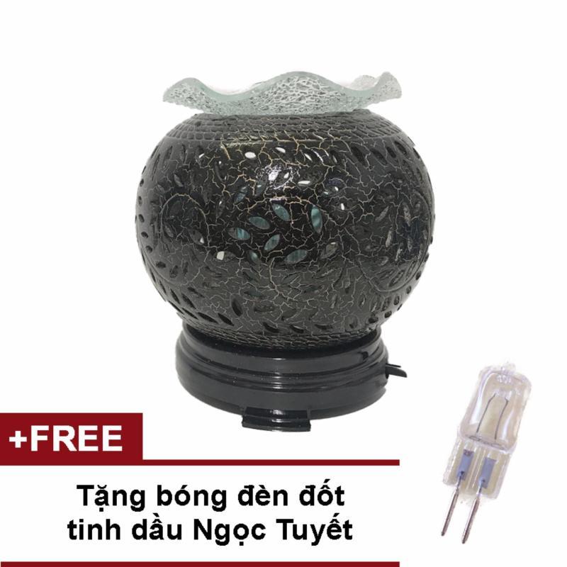 Bảng giá Mua Đèn để bàn gốm đen xông tinh dầu