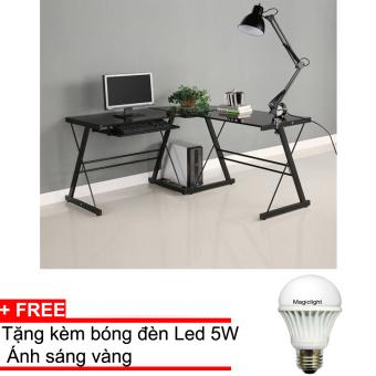 Đèn học bảo vệ mắt Magiclight Led + Tặng kèm đèn LED 5w ánh sángvàng (Đen)