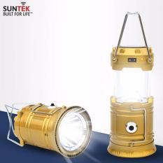 Đèn LED năng lượng mặt trời 3 trong 1 JH-5800T (Xanh dương nhạt)(Vàng)