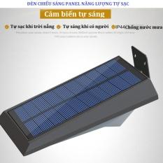 Đèn led năng lượng mặt trời, chống nước, cảm biến hồng ngoại 2 (Bạc)