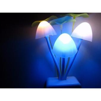 Đèn LED ngủ nấm cảm ứng ánh sáng OML (Trắng)