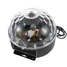 Đèn LED quả cầu xoay pha lê 7 màu (Đen)