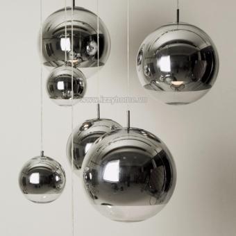 Đèn Mirror Ball cỡ 15cm (Tặng kèm bóng đèn Led tiết kiệm điện)