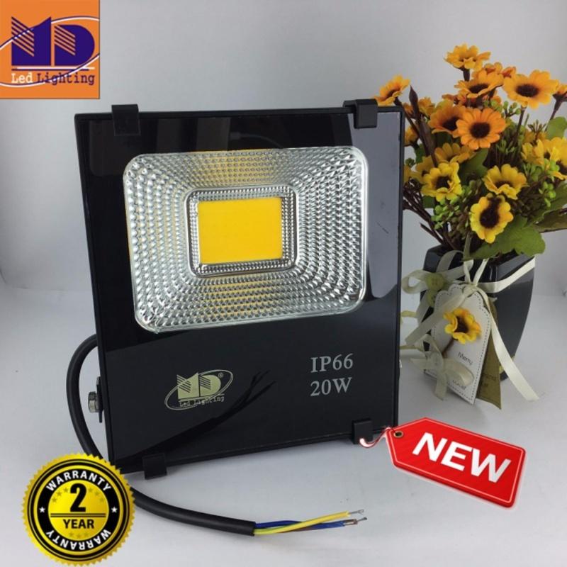 Bảng giá Đèn Pha cao cấp chống nước COB ánh sáng vàng 20W - MD106