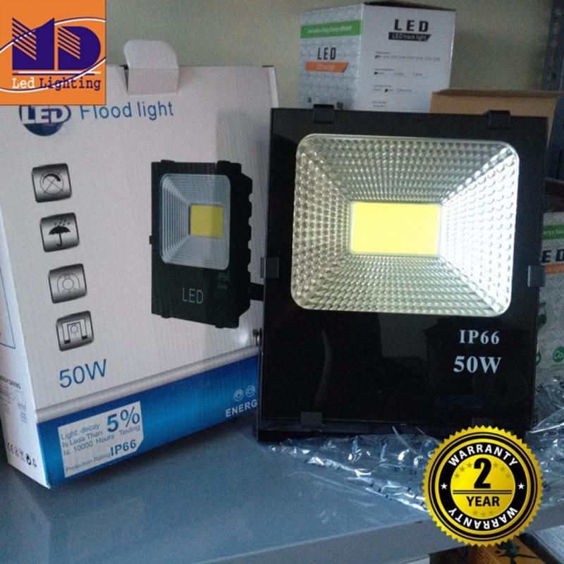 Bảng giá Mua Đèn Pha led cao cấp chống nước COB ánh sáng vàng 50W - MD106