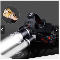 Đèn pin Led siêu sáng đội đầu 3 bóng (Đen) + Tặng hai Pin+ Khuyến Mại Thêm Sạc- Hàng Nhập Khẩu Loai 1