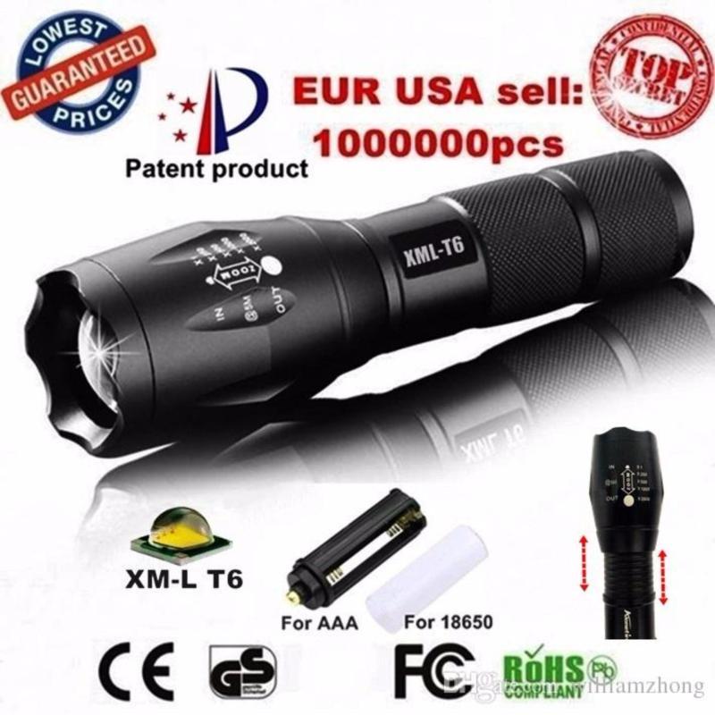Bảng giá Mua Den pin pro - Đèn pin siêu sáng Quân sự MỸ  ST6 - Tặng sạc + Pin + Hộp đựng đèn.