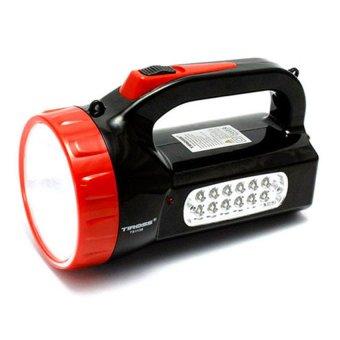Đèn pin sạc điện Tiross ts1136 (Đen phối đỏ)
