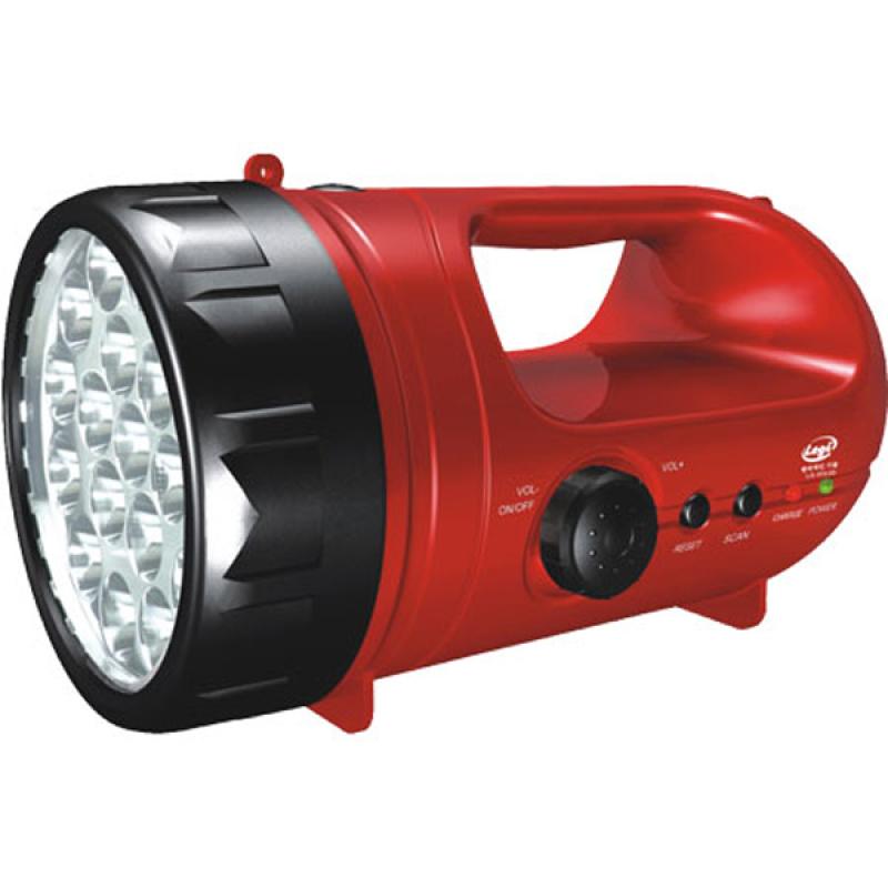 Bảng giá Đèn pin sạc siêu sáng có Radio Legi LG-0333D-VT (Đỏ)