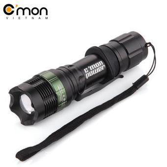 Đèn pin siêu sáng QSShop IPX6 LED 7W 1600lm chiếu xa 300m
