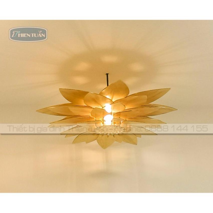 Hình ảnh Đèn trần gỗ cao cấp Hoa Sen
