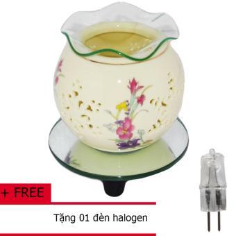 Đèn xông tinh dầu kiêm đèn ngủ bằng điện SN-01TĐ + Tặng 01 bóng đèn Halogen