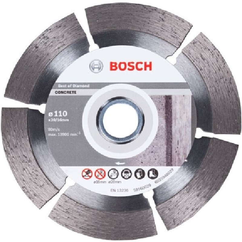 Đĩa cắt Granite Bosch 2608602179 105 x 1.6 x 20/16mm (Xám)