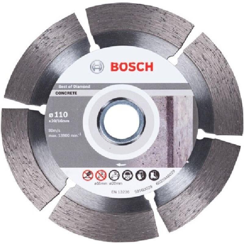 Đĩa cắt Granite Bosch 2608602476 110 x 1.6 x 20/16mm (Xám)