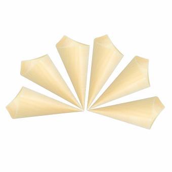 Dĩa sử dụng 1 lần hình nón bằng gỗ 6 cái/bộ UBL YT0053(Vàng)
