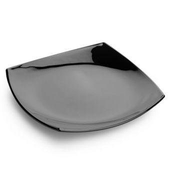 Đĩa thủy tinh Pháp Luminarc Quadrato Black 19cm H3670 (Đen)