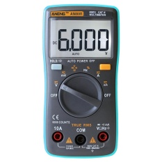 Digital Multimeter 6000 Counts Backlight AC/DC Ammeter Voltmeter Ohm Meter (Blue) - intl