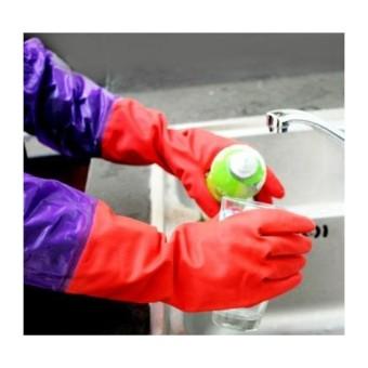 Đôi găng tay cao su lót nỉ có cạp chun cao cấp TLS168