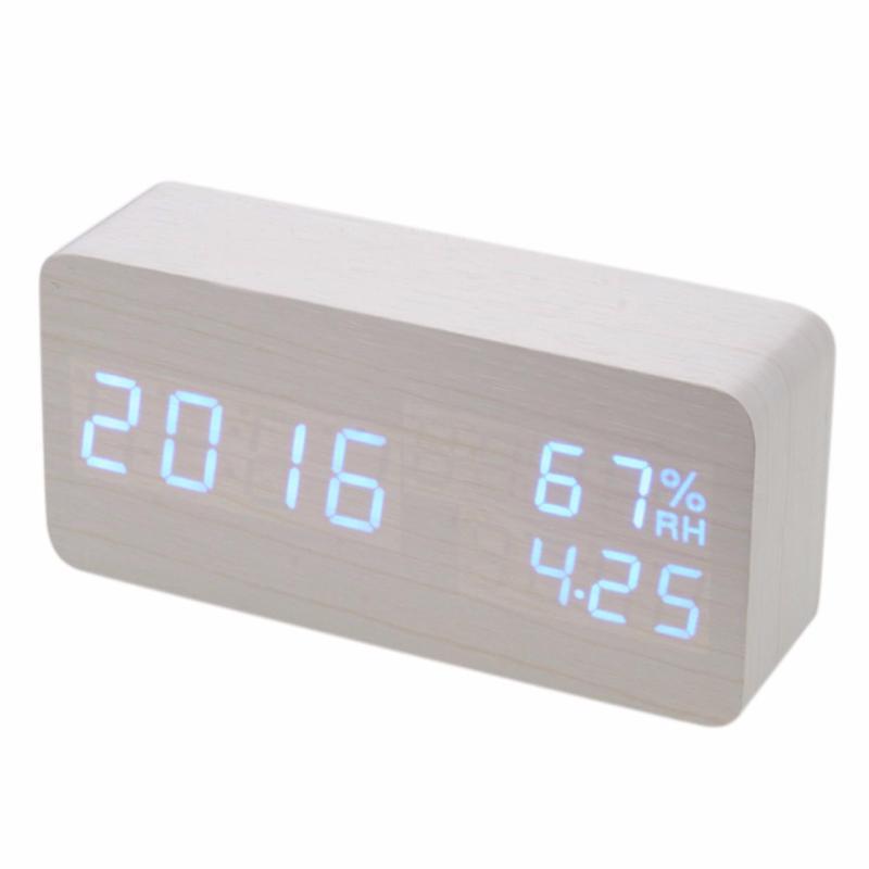 Nơi bán Đồng hổ báo thức cục gỗ - Wood Alarm Clock