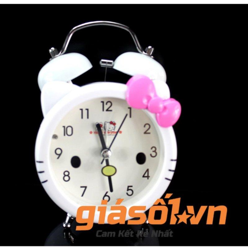 Đồng hồ báo thức để bàn cho bé 17063 (Trắng nơ hồng) bán chạy