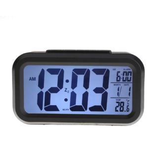 Đồng hồ báo thức kỹ thuật số đèn LED cảm biến đa chức năng (Đen) 010000001