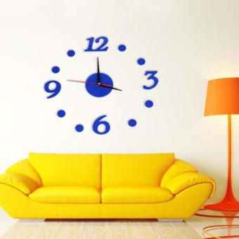 Đồng hồ dán tường DIY Clock 360 Xanh - DH003